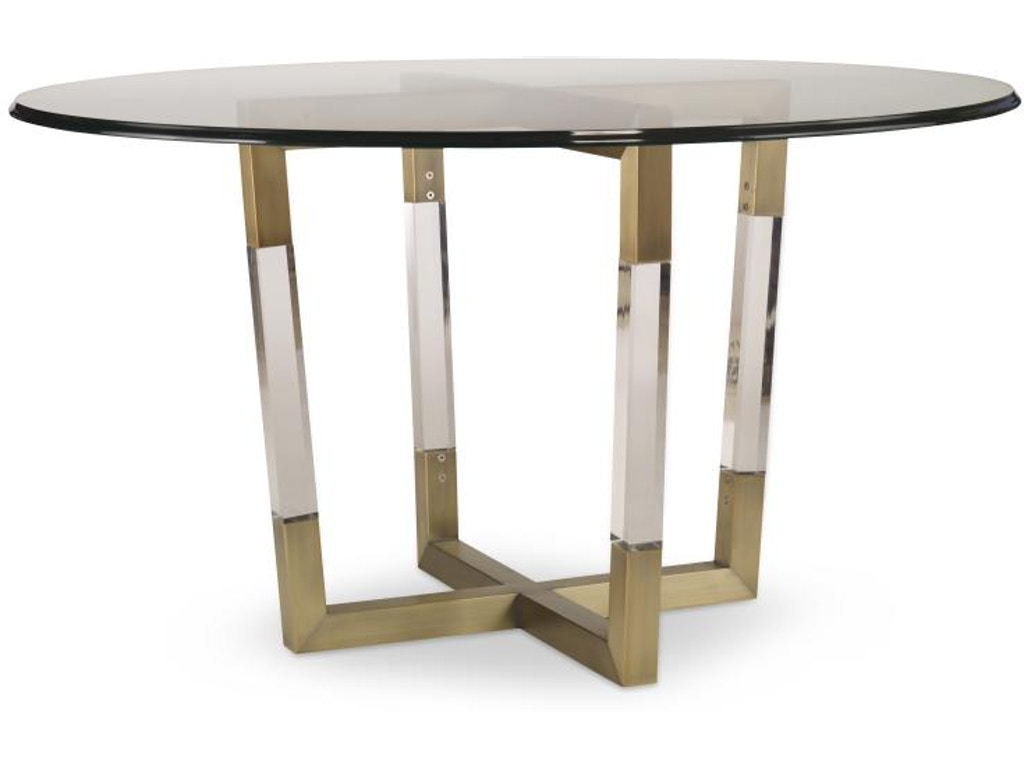 Century Furniture Dining Room Metal Acrylic Table Base For Gl Tops Cnt78d803bg Walter E Smithe Design