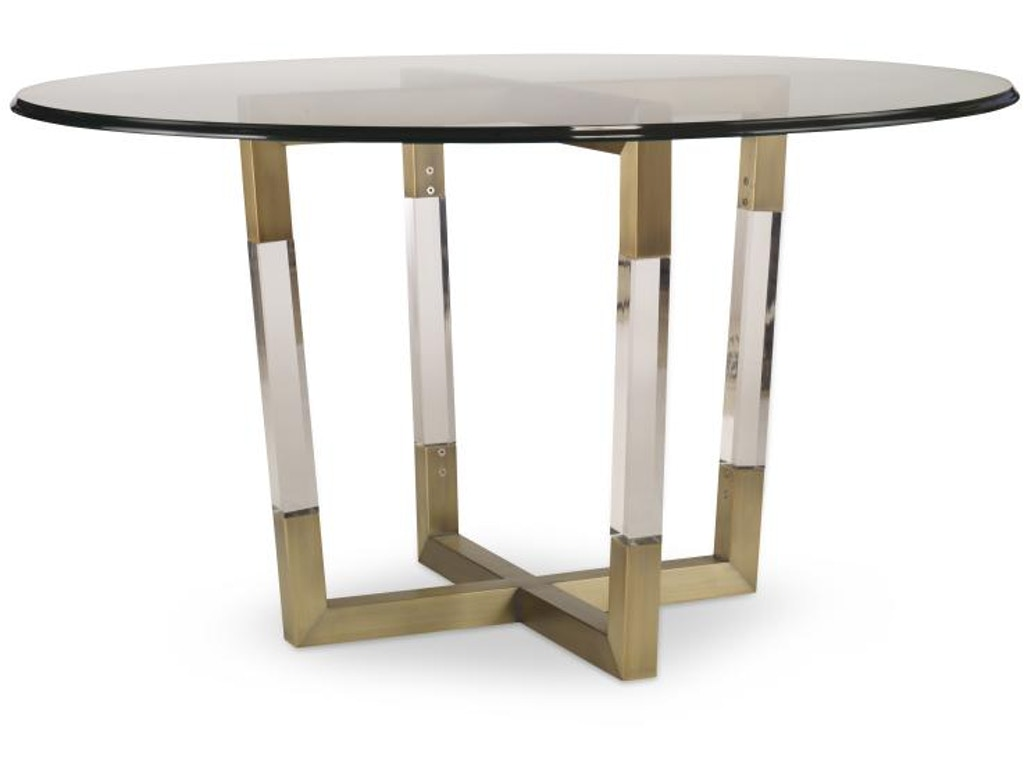 Century Furniture Dining Room Metal Acrylic Dining Table Base For Glass Tops 78d 803b G