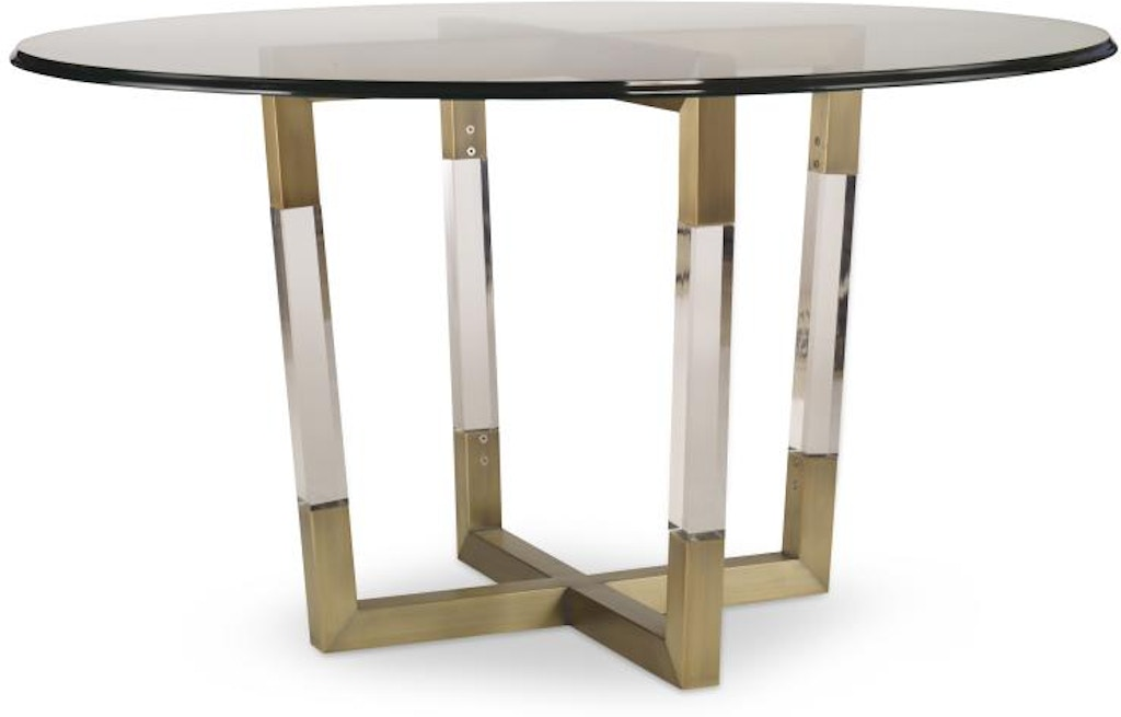 Century Furniture Dining Room Metal Acrylic Table