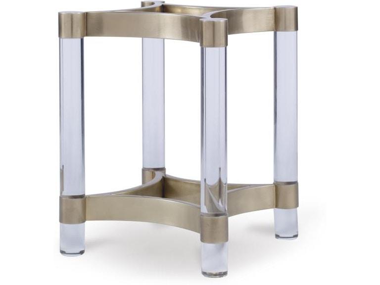 Century Furniture Cra-828B-W Dining Room Acrylic and Metal