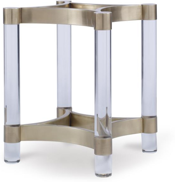 Century Furniture Dining Room Acrylic And Metal Dining Table Base For Glass Tops Cra 828b Noel