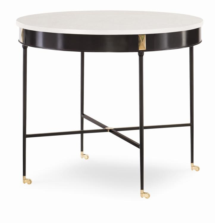 A Century Furniture Sky Hall Table With Stone Top CNTI3a752S From Walter E  Smithe