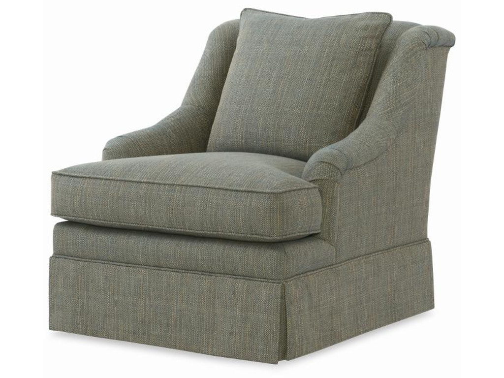 Century Furniture Living Room Portola Skirted Chair 11 604g Toms Price Furniture Chicago Suburbs