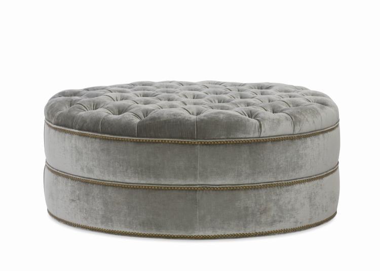Etonnant Century Furniture Wesley Round Ottoman CNT33808