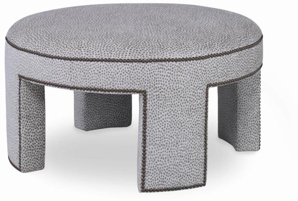 Groovy Century Furniture 3710 33 Living Room Durant Small Round Ottoman Customarchery Wood Chair Design Ideas Customarcherynet