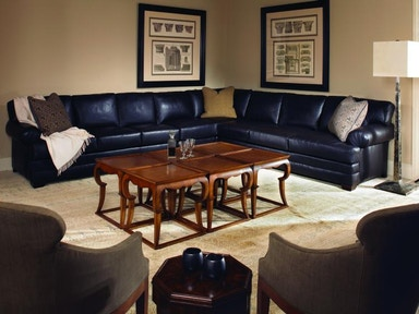 Century Furniture Living Room Leatherstone Sectional Lr