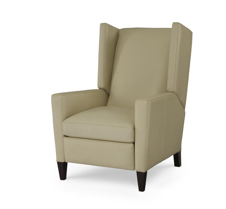 Century Furniture Leather Recliner PLR 1678 IVORY