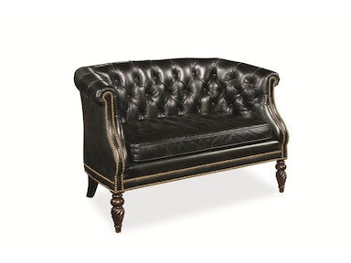 Century Furniture Leather Loveseat PLR-3004-NOIR