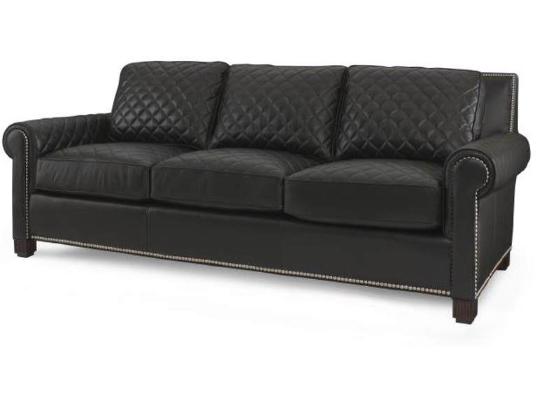 Century Furniture Leather Quilted Sofa Plr 5702 Black