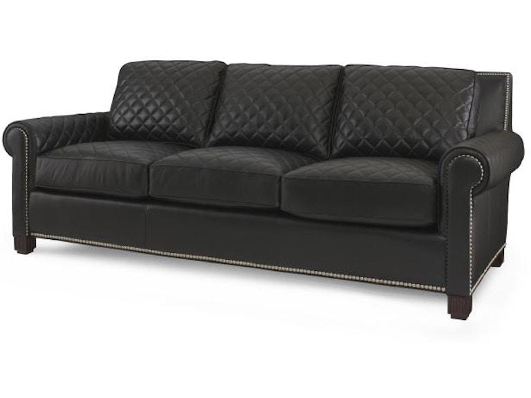 Century Furniture Living Room Lyndon Quilted Sofa PLR-5702-BLACK - Gorman