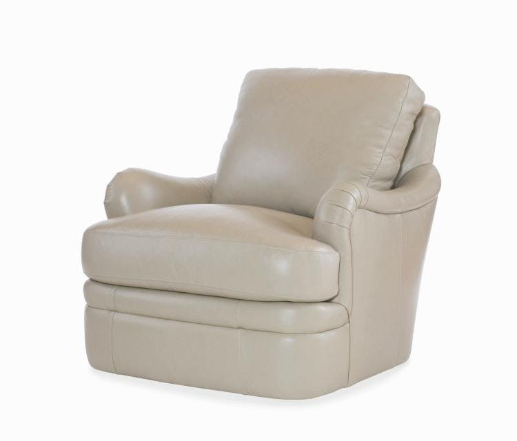 Century Furniture Living Room Leather Swivel Chair Plr 6708