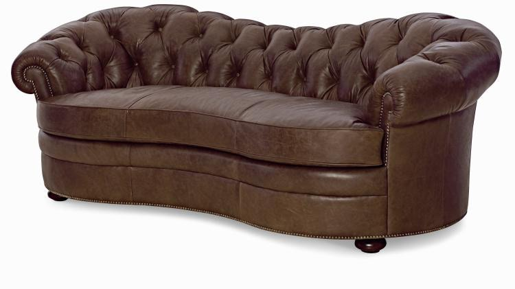 Ordinaire Century Furniture Leather Sofa PLR 9102 GRAPHITE