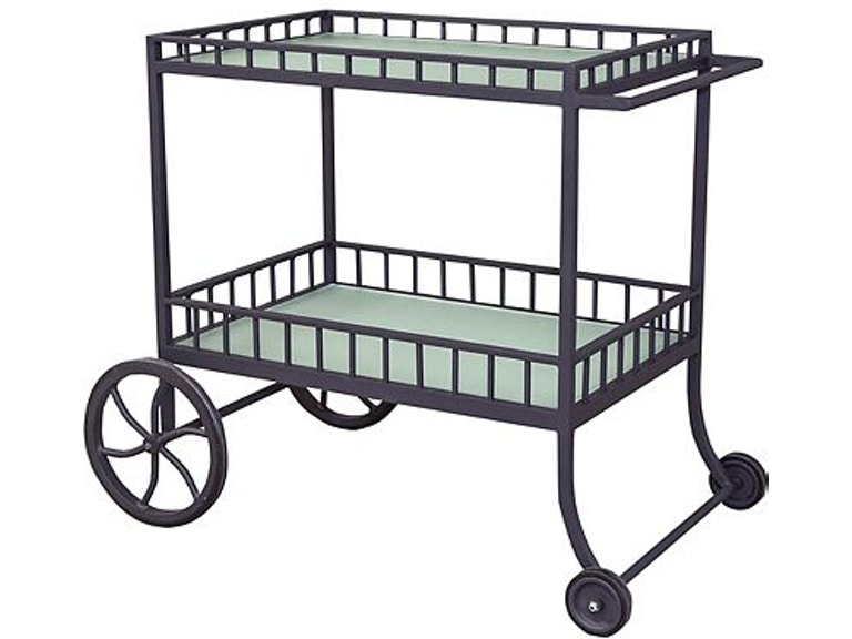 Lane Venture Outdoor Patio Winterthur Estate Bar Cart With