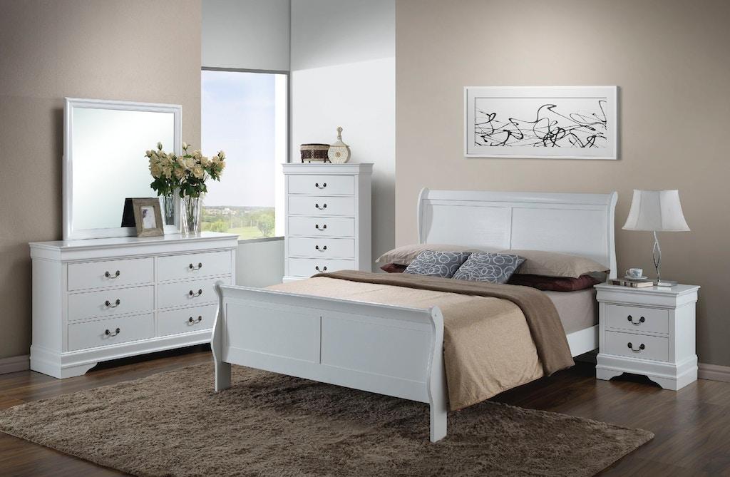 Elements International Belleview White Bedroom - Hunter\'s ...