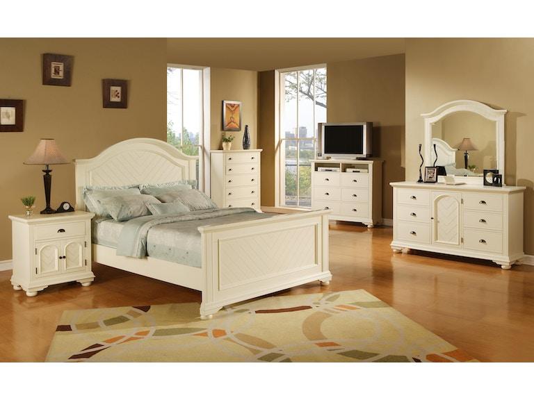 Elements International Brook White Bedroom - Elements International ...
