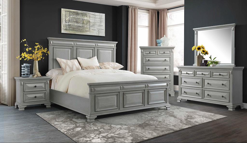 elements international calloway grey bedroom - hunter's furniture - foley, orange beach and gulf