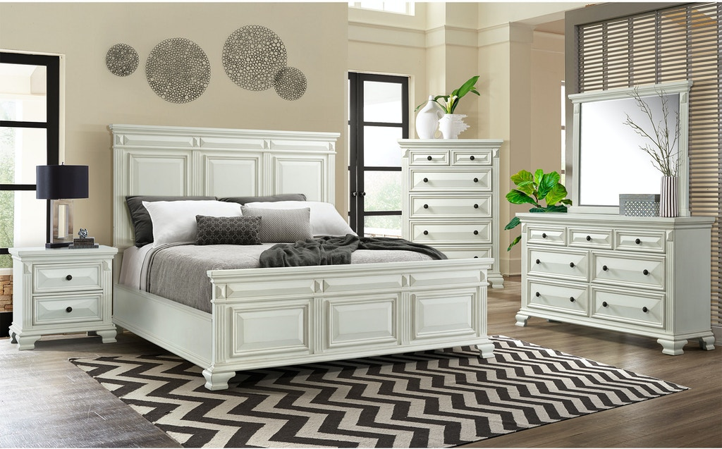 Elements International Calloway White Bedroom Calloway White ...