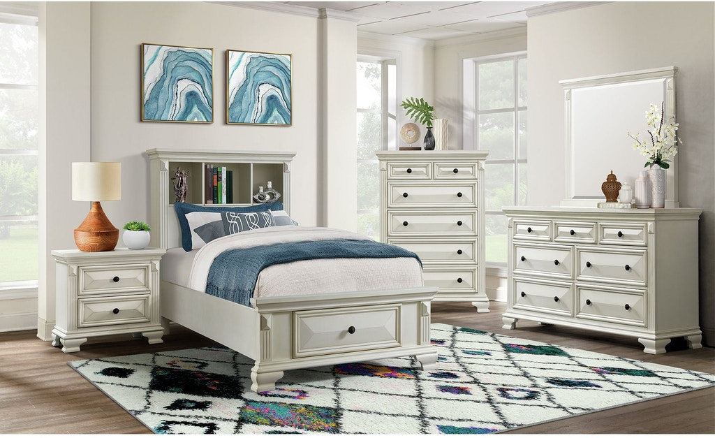 Elements International Calloway White Youth Bedroom Elements International Mesquite Tx