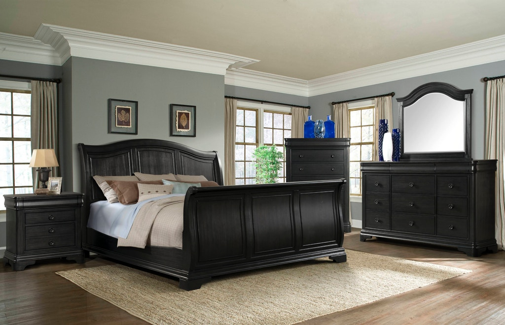 Astounding Elements International Cameron Charcoal Sleigh Bedroom Caraccident5 Cool Chair Designs And Ideas Caraccident5Info