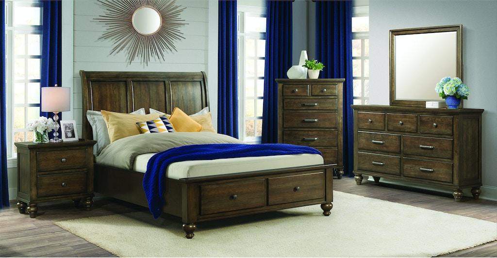 Elements International Chatham Grey Storage Bedroom ...
