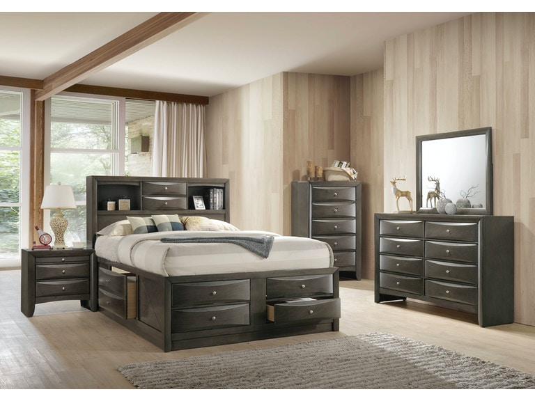 Elements International Emily Grey Storage Bedroom