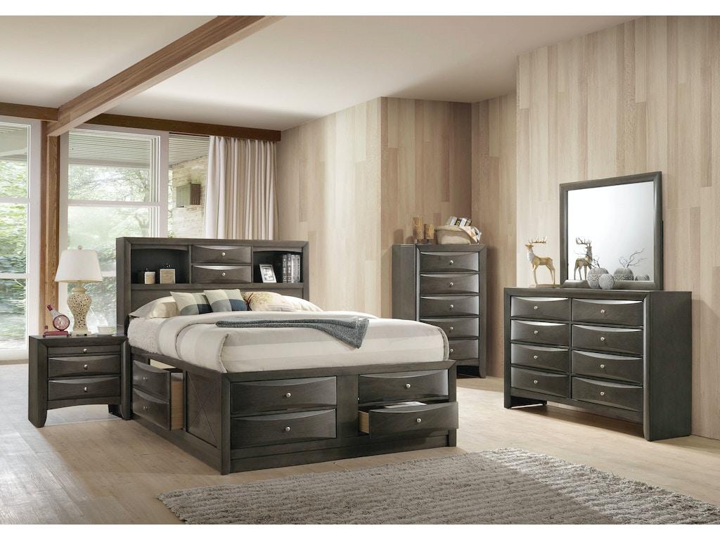 Elements International Emily Grey Storage Bedroom