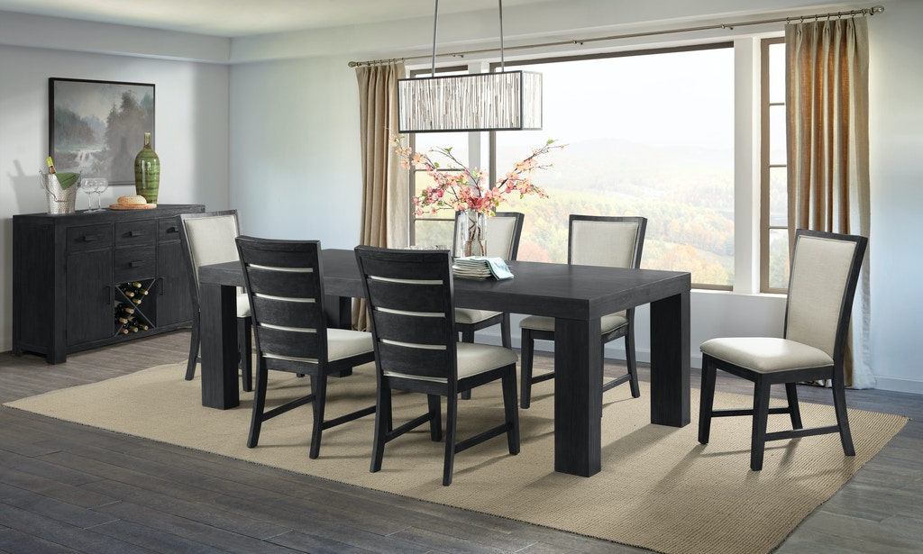 Elements International Dining Room Grady Black Dining Set Gilliam Thompson Furniture Mayfield