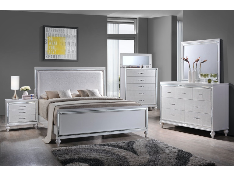 Elements International Miami White Bedroom - Elements ...