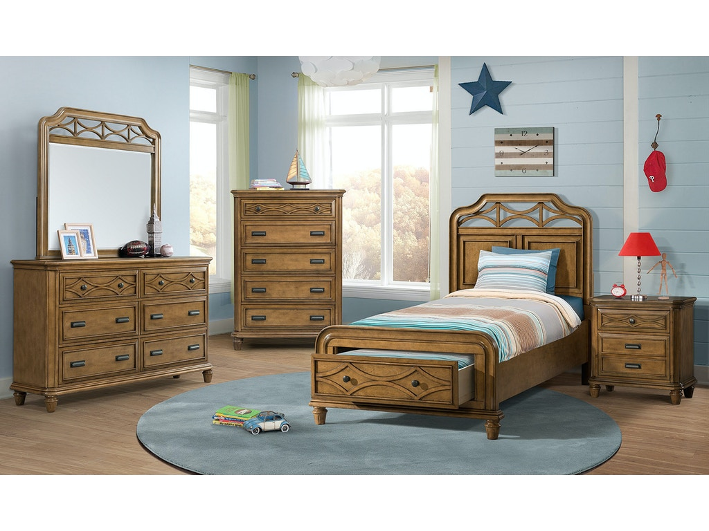 Elements international mystic bay storage honey bedroom for Big w bedroom storage
