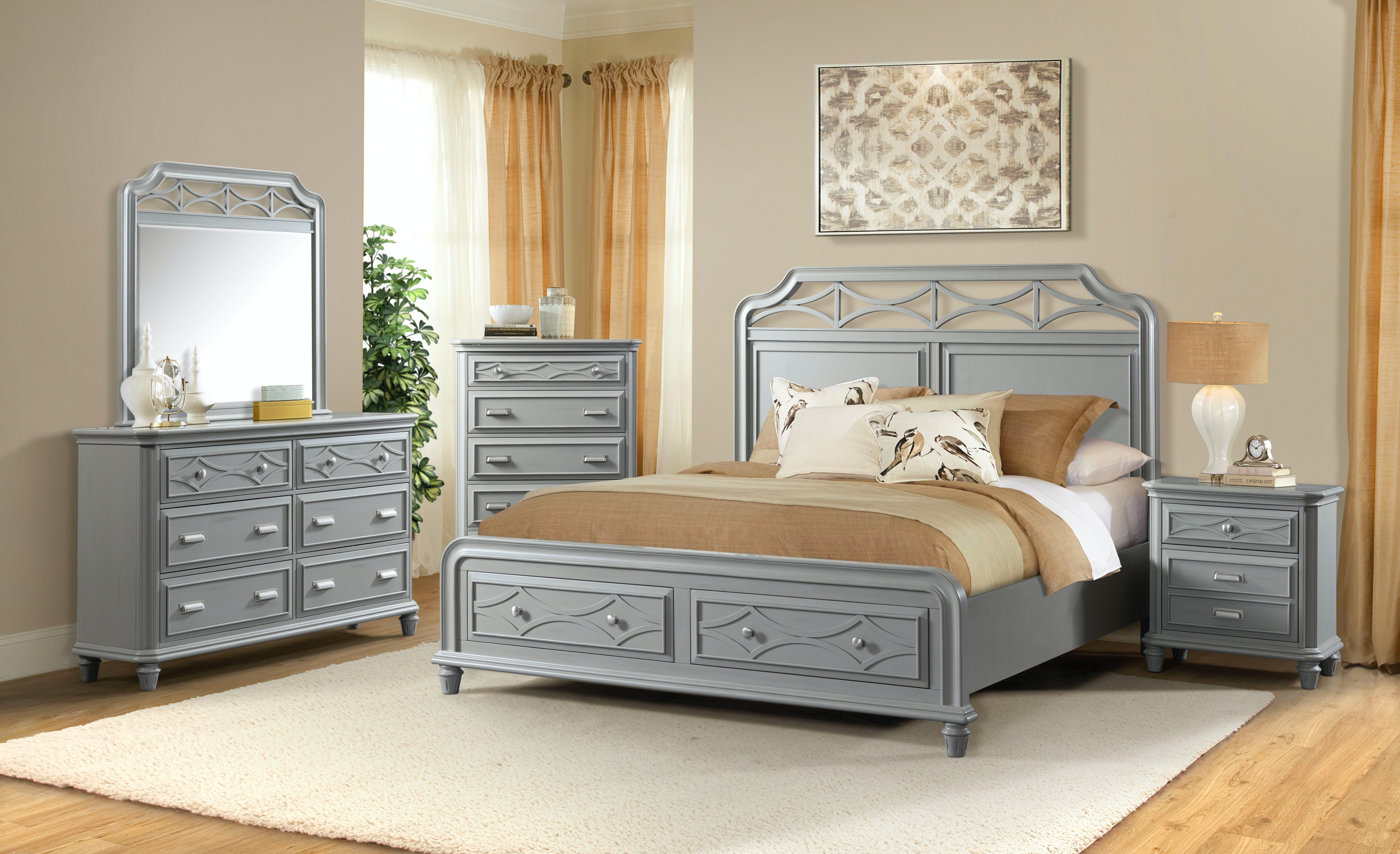 Elements International Mystic Bay Storage Gray Bedroom Elements International Mesquite Tx