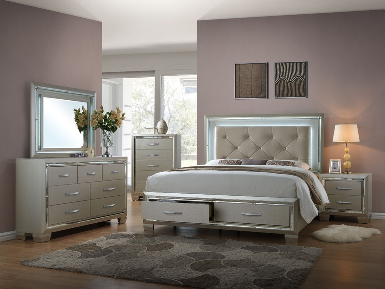 Elements International Platinum Storage Bedroom Elements
