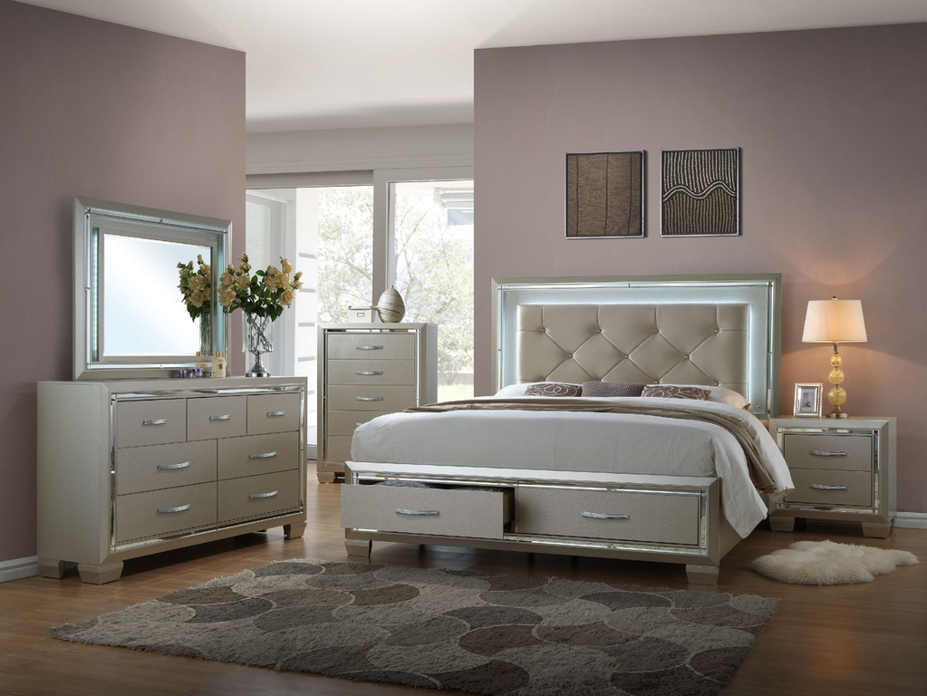 Elements International Platinum Storage Bedroom - Elements ...