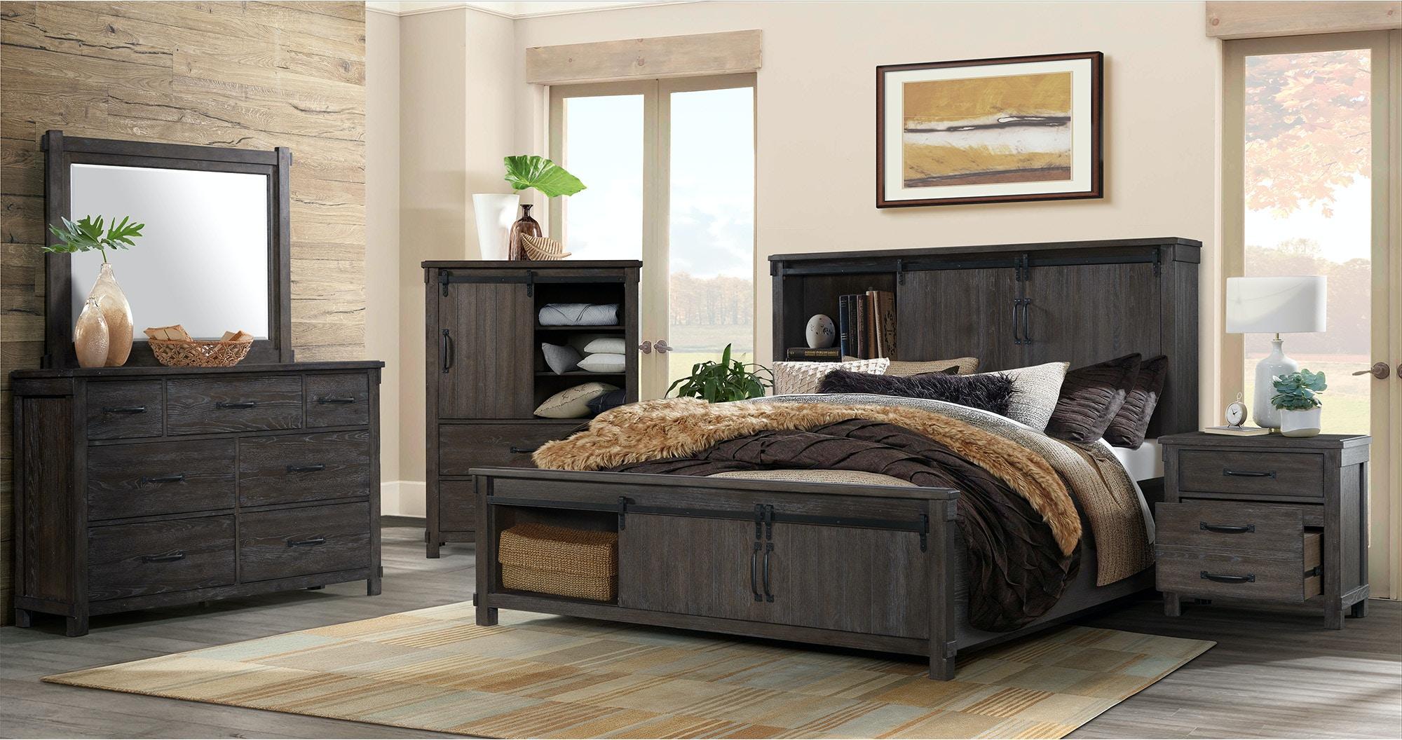 Elements International Bedroom Scott Dark Bedroom 835641508 118263507 Woodstock Furniture