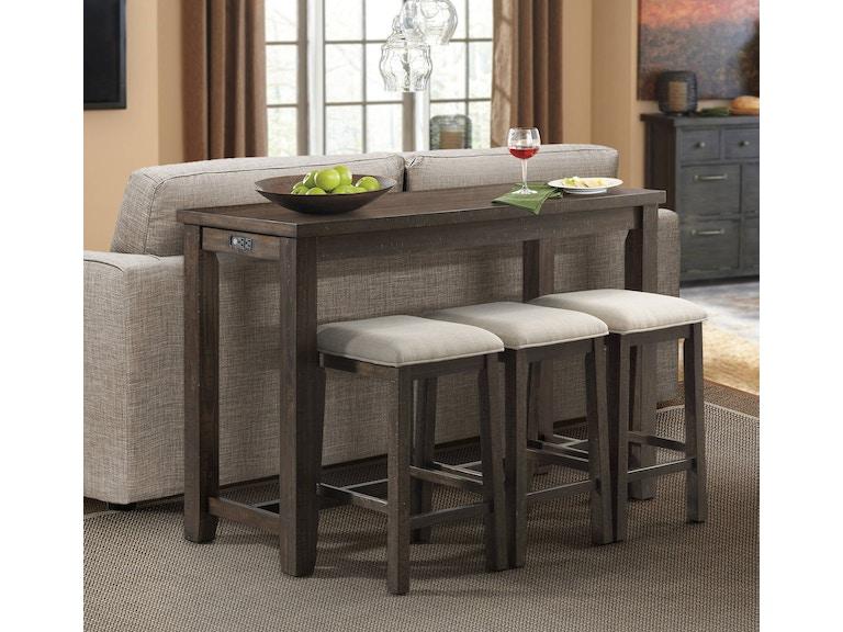 Elements International Living Room Stone Bar Table ...