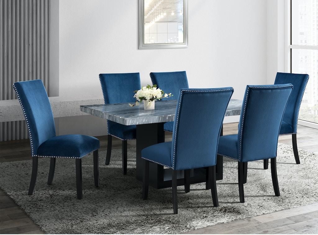 Elements International Dining Room Valentino Grey Dining Set Hunter S Furniture Foley Orange
