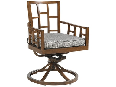 Tommy Bahama Outdoor Living Swivel Rocker Dining Chair