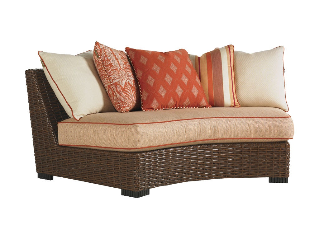 Tommy Bahama Outdoor Living Sectional Armless Curved Sofa 3130 82A