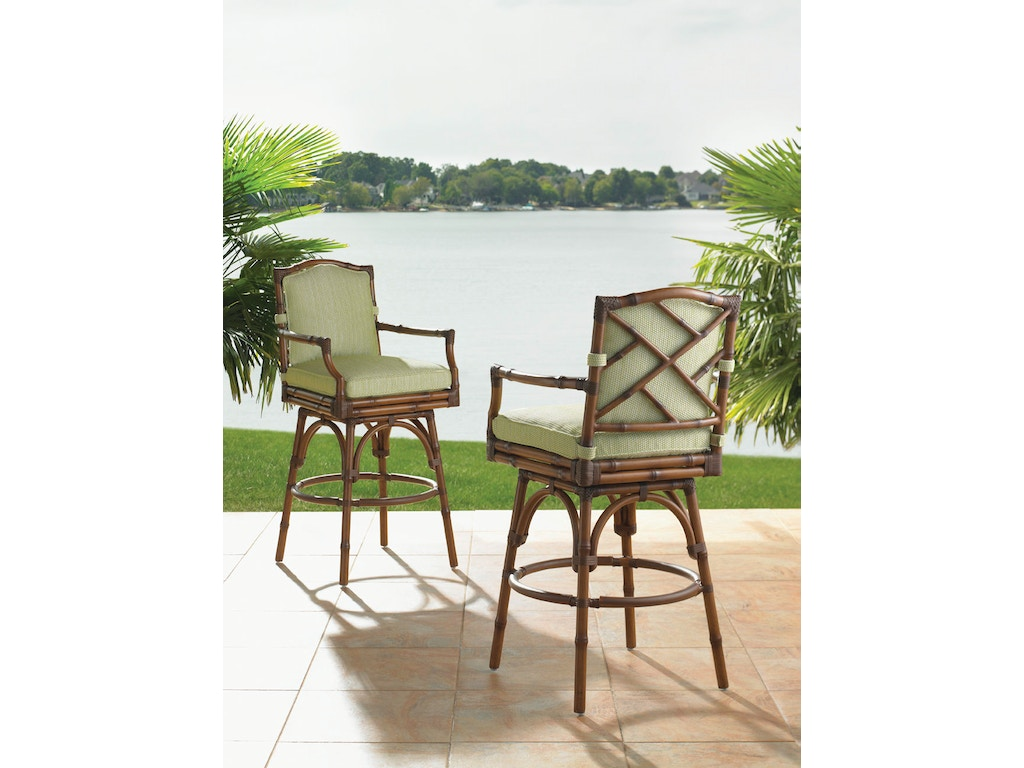 Tommy Bahama Outdoor Living Outdoor/Patio Swivel Bar Stool 3160-16SW ...