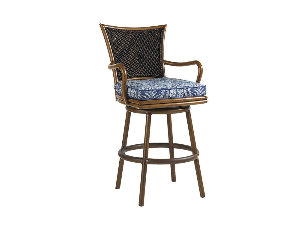 Tommy Bahama Outdoor Living Outdoor Patio Swivel Bar Stool