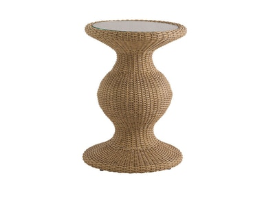 Tommy Bahama Outdoor Living Accent Table with Glass Insert 3220-950