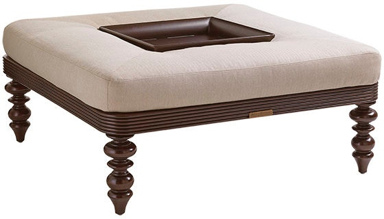 Tommy Bahama Outdoor Living Outdoor Patio Cocktail Ottoman W Tray 3235 44RT Lexington Home