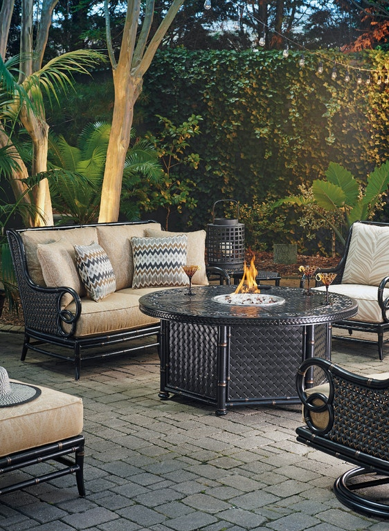 tommy bahama outdoor living outdoor patio gas fire pit dual source