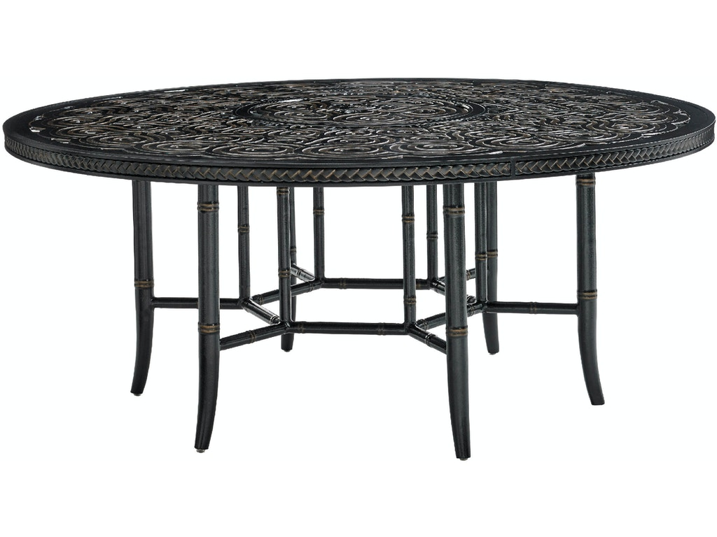 Tommy bahama outdoor living outdoor patio round dining for Dining table brands