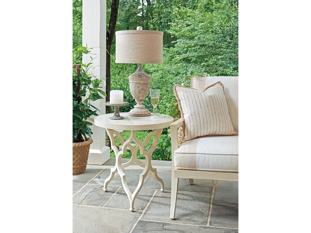 Tommy bahama outdoor living outdoor patio round accent for Living accents patio furniture