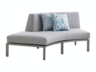 Left Side Facing Curved Sectional Love Seat