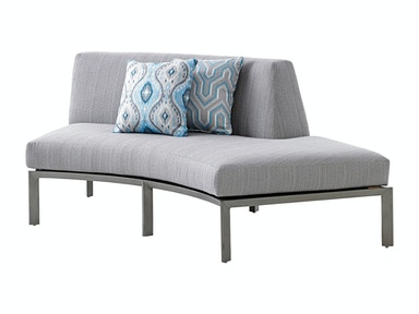 Right Side Facing Curved Sectional Love Seat