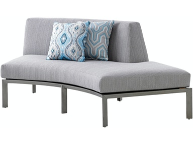Tommy Bahama Outdoor Living Right Side Facing Curved Sectional Love Seat
