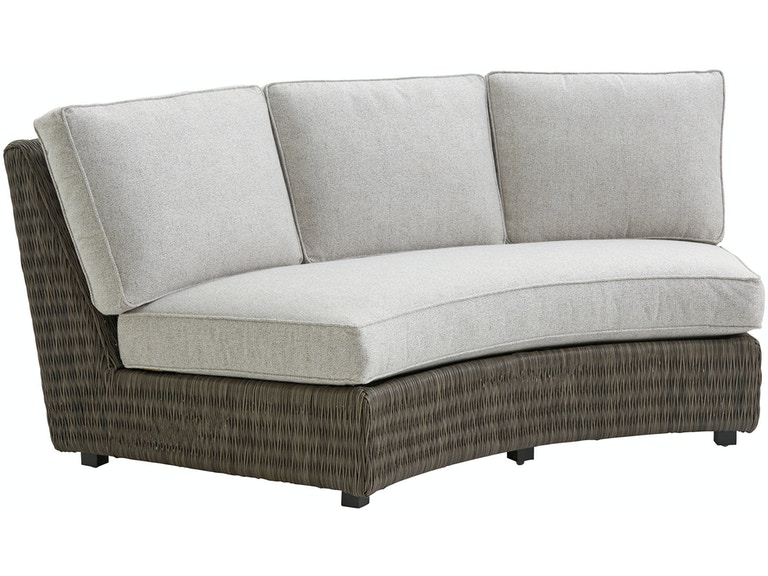 Tommy Bahama Outdoor Living Curved Sectional Armless Sofa The