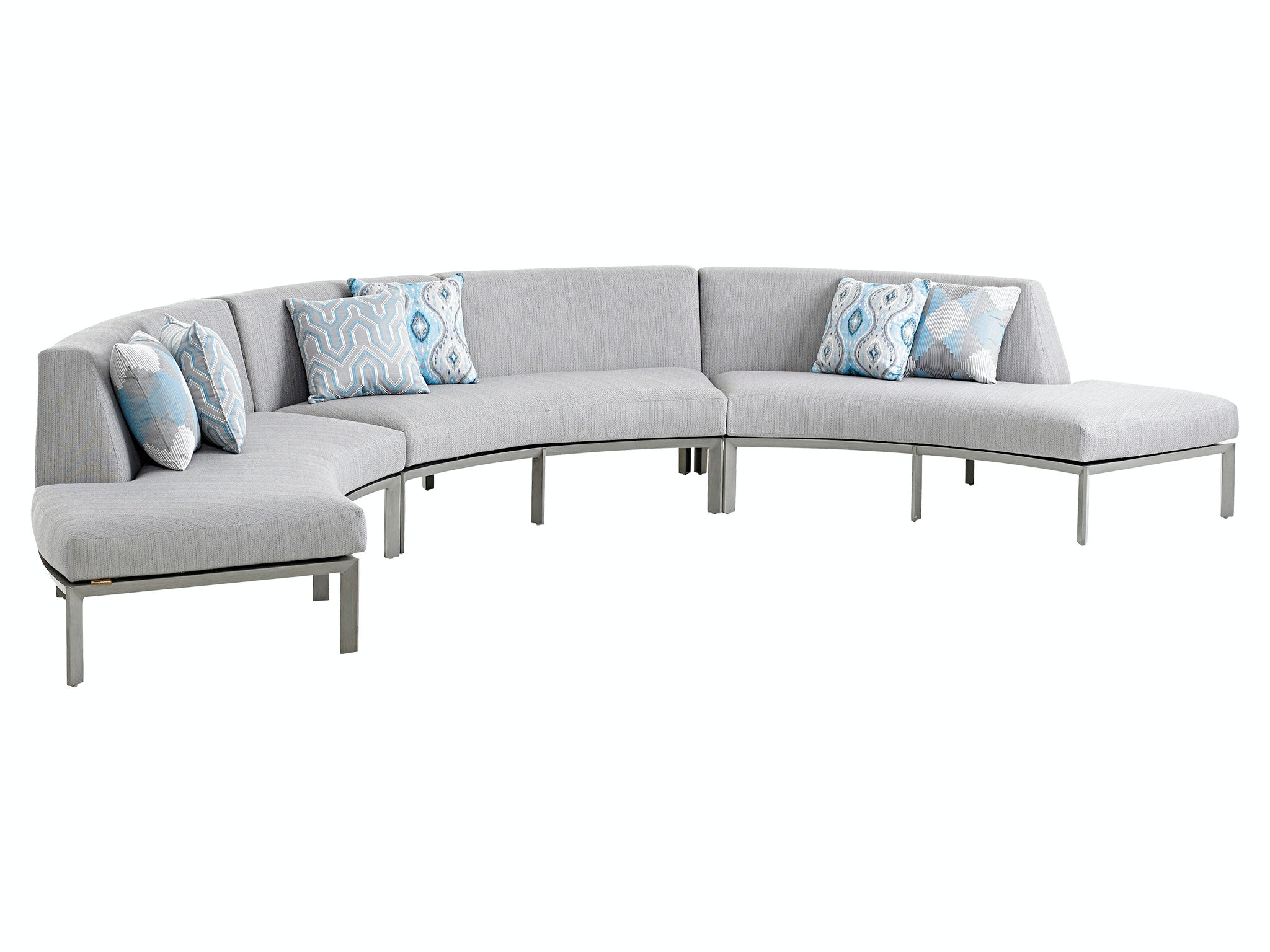 Tommy Bahama Outdoor Living Left Side Facing Curved Sectional Love Seat  3800 52L
