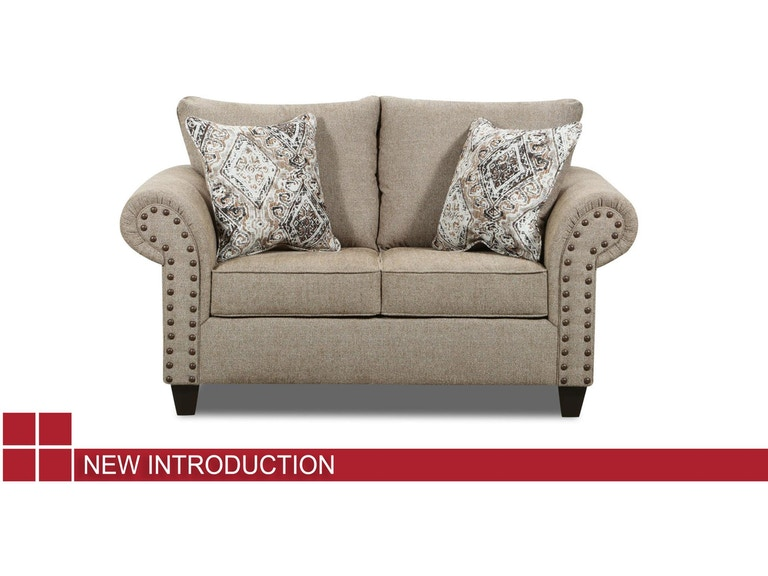 Lane Home Furnishings Living Room Sofa - Laruso Light Beige/Soren Zebra/Bryce Canyon